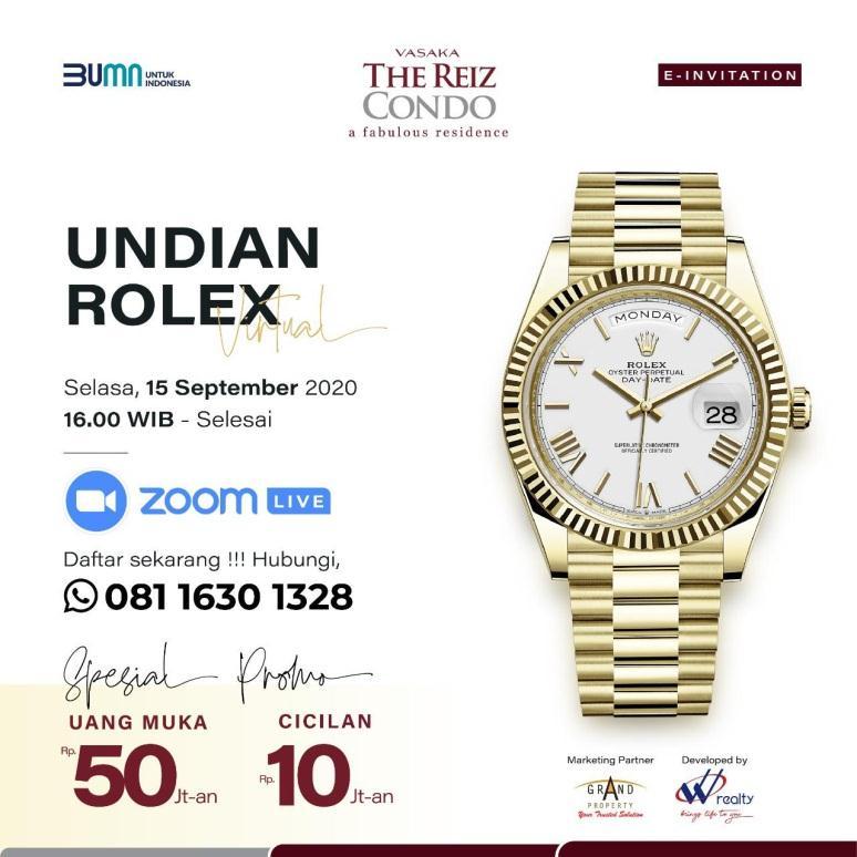 Undangan Undian Rolex Virtual Vasaka The Reiz Condo