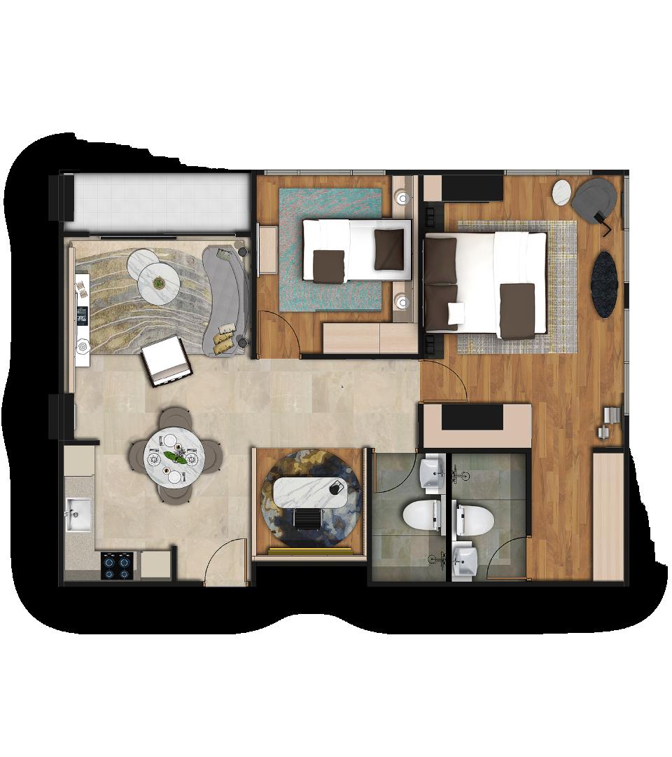 Reiz Deluxe Corner Floorplan