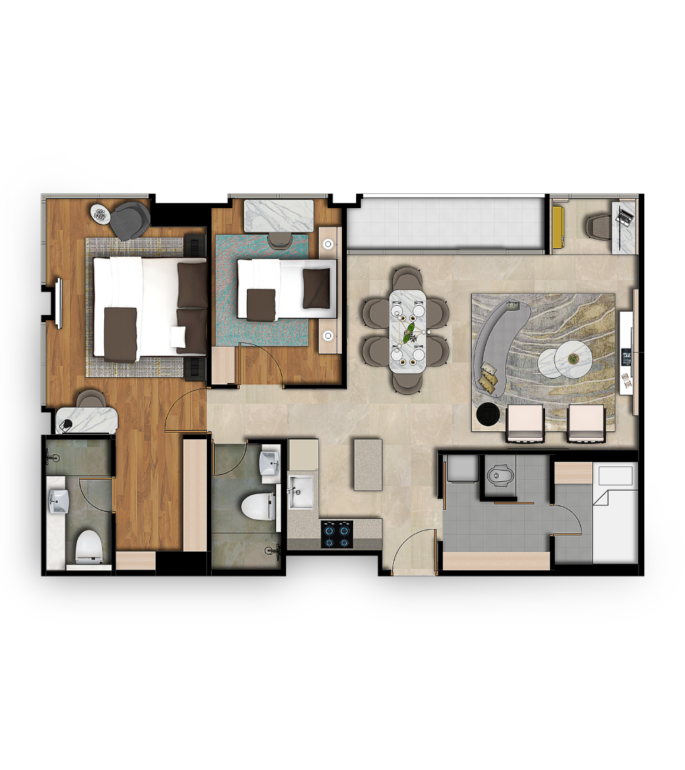 Reiz Suite Floorplan