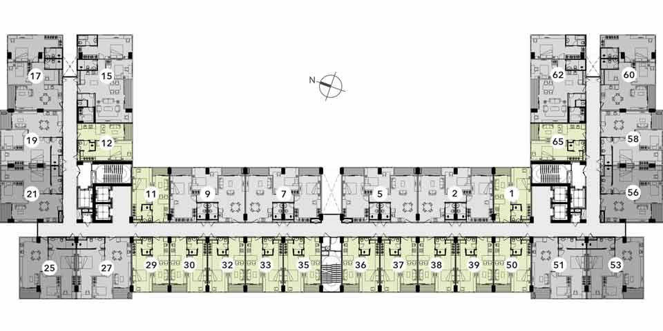 Reiz 1 Bed Room Floor Plan typical 1
