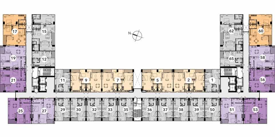 Reiz 2 Bed Room Floor Plan Typical 1