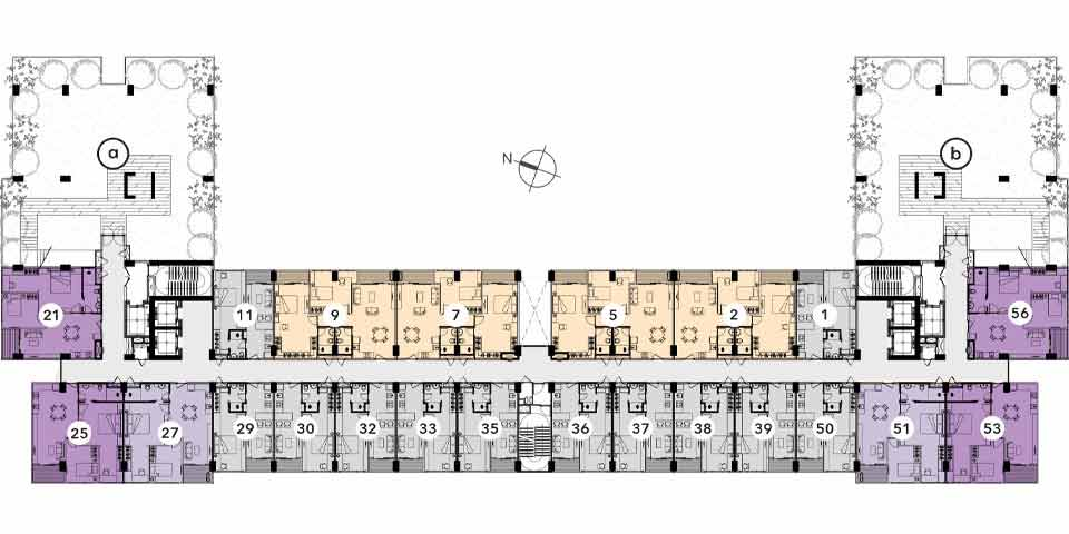 Reiz 2 Bed Room Floor Plan Typical 3